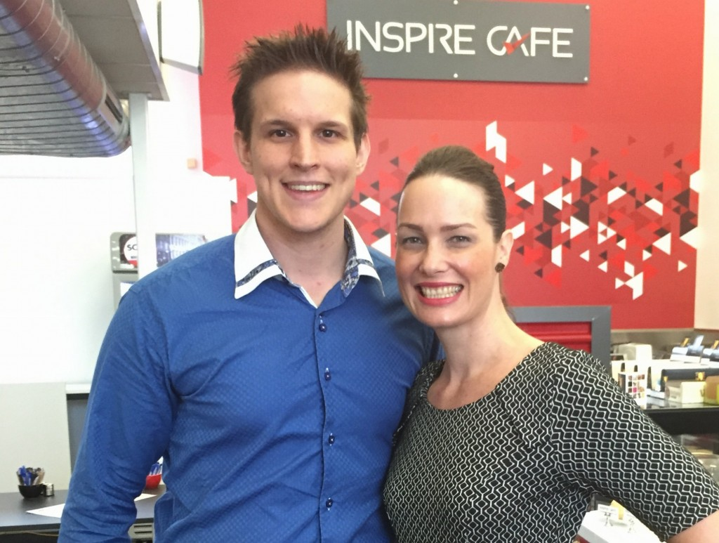 Inspire CA owner Ben Walker and keynote speaker Elizabeth Campbell