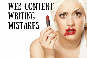 In the red - Web content writing mistakes