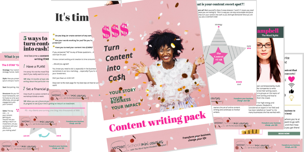 Free content writing pack - get yours today!
