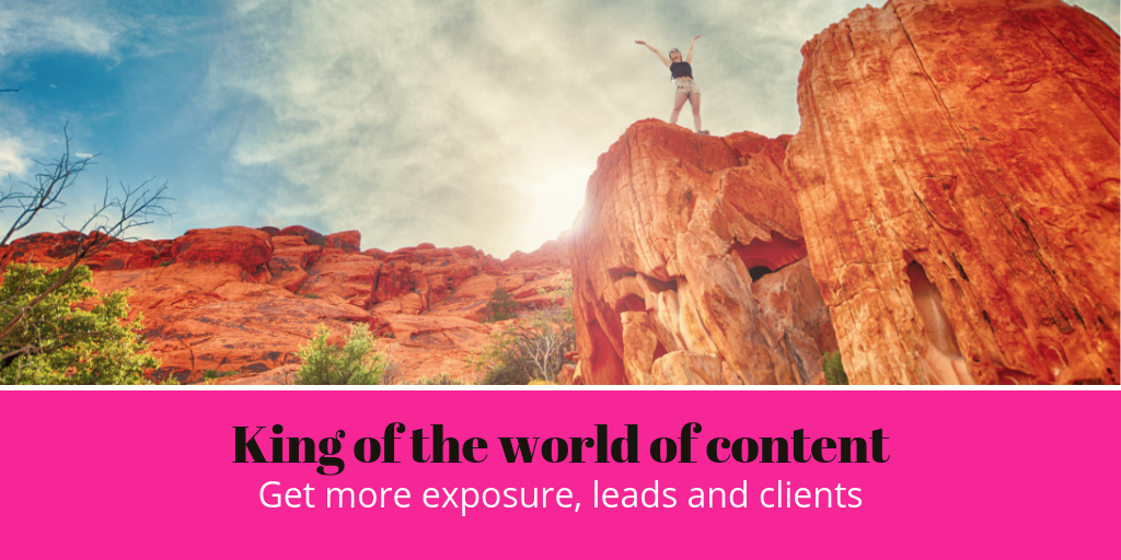 Be the king of content in your industry, writes Elizabeth Campbell
