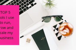 TOP 5 tools I use to run, grow and scale my content writing business, writing Elizabeth Campbell