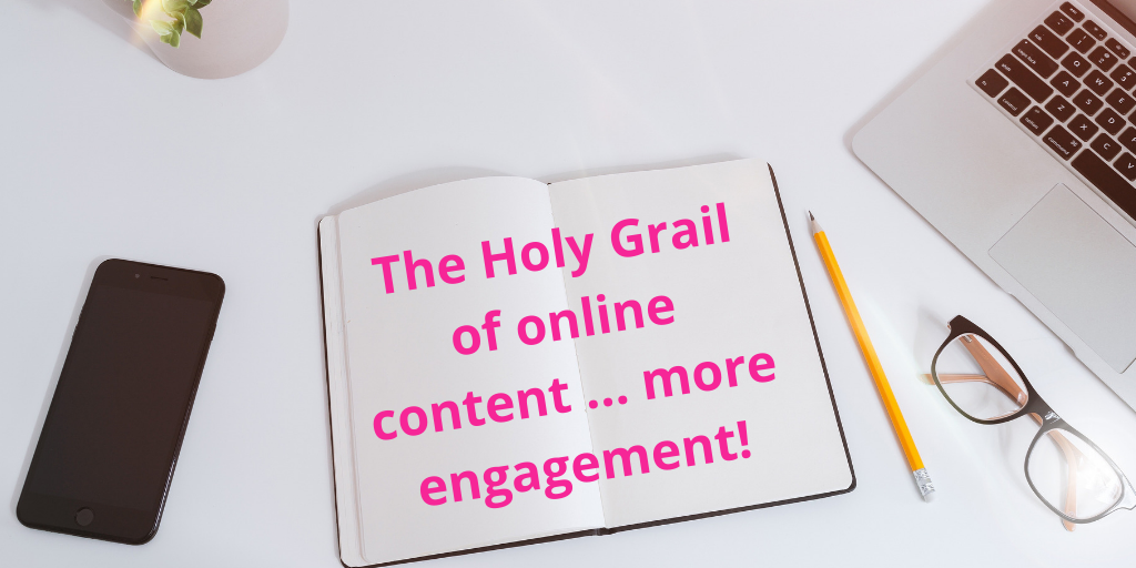 how to get more engagement online - write awesome content!
