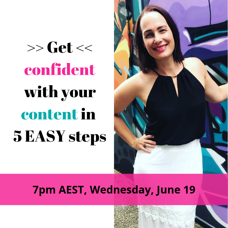 Get confident with your content writing - webinar