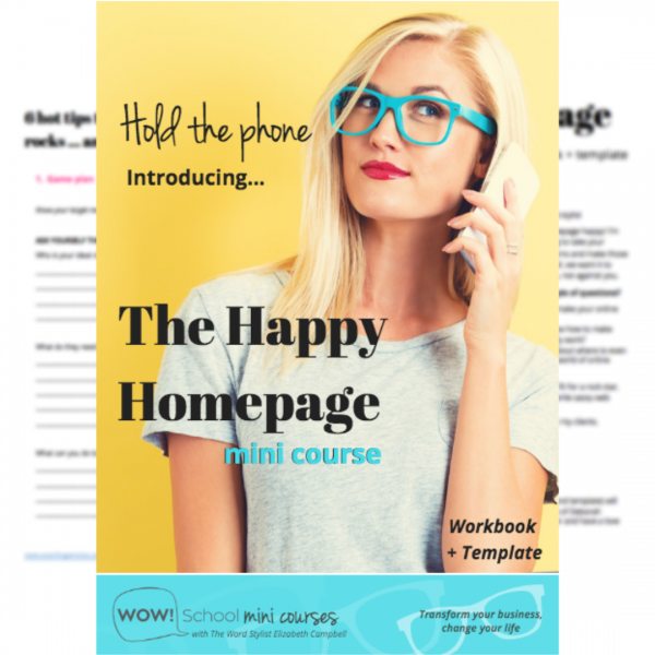 Happy Homepage online course - EC Writing Services