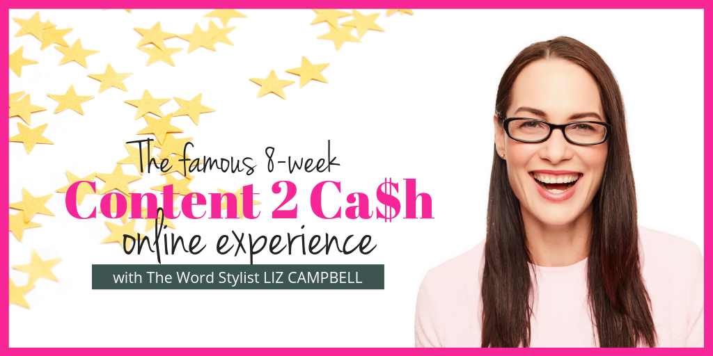 Digital content writing courses Content 2 Cash Course with Elizabeth Campbell