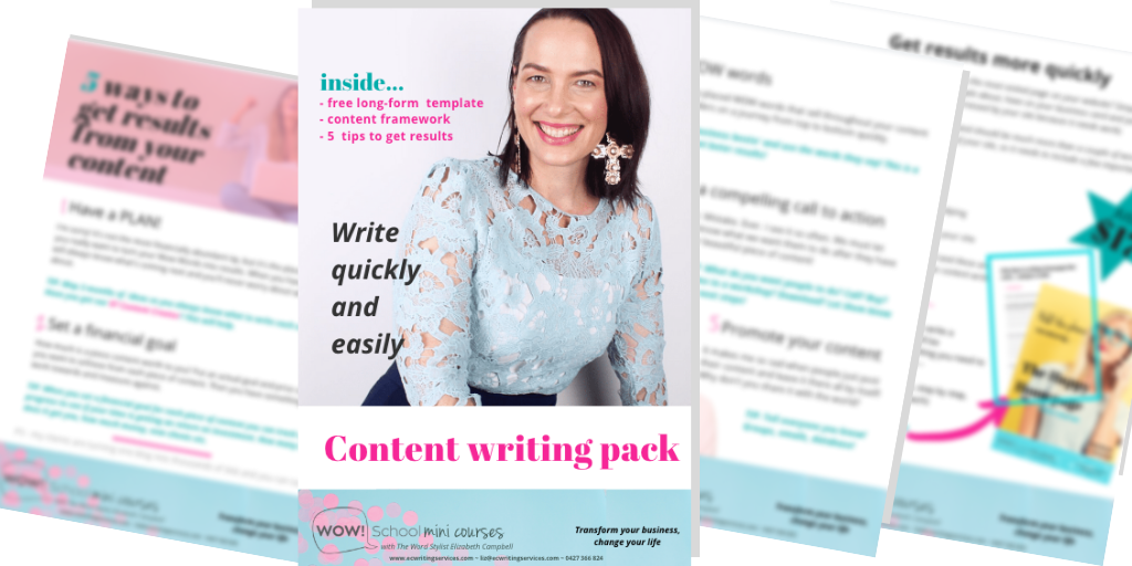 Wow Writing pack with writing template EC Writing Services