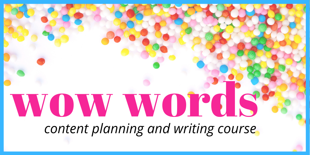 Wow Words content planning and writing course with Liz Campbell, the Word Stylist
