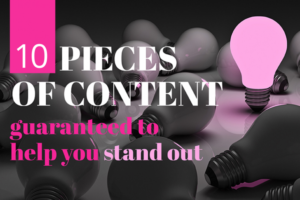 EC Writing Services -10 pieces of content guaranteed to help raise your profile online