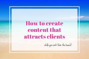 Attract the right customers with your content.