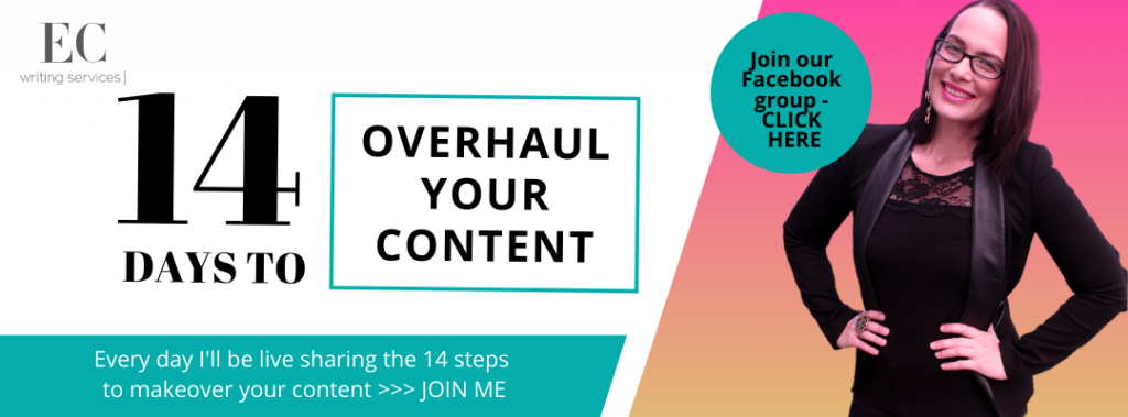 14 steps to overhaul your content - EC Writing Services