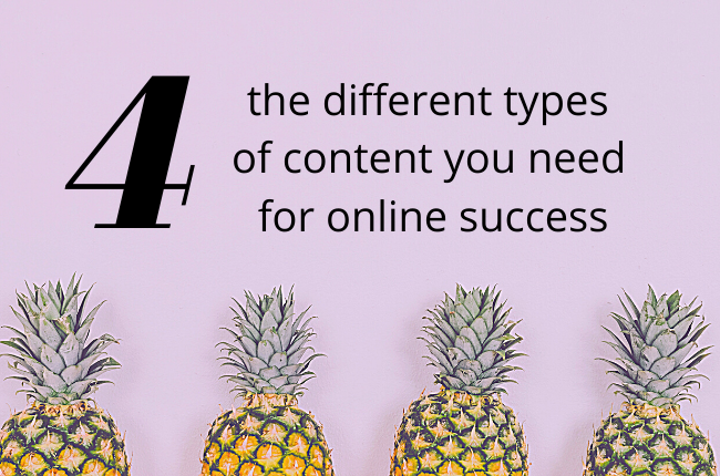The 4 types of content you must write – EC Writing Services