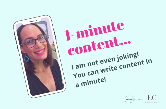 Copywriting time: Writing your content in 1 MINUTE | copywriting courses | Elizabeth Campbell