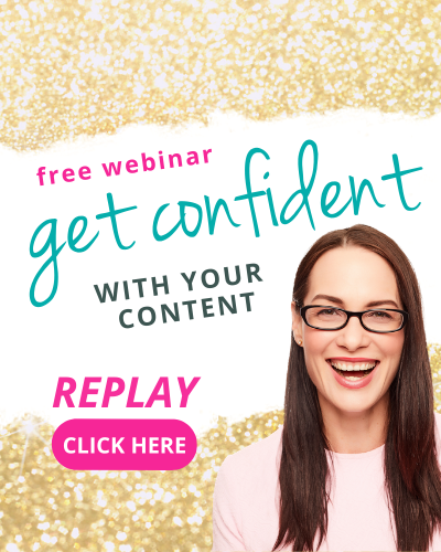 REPLAY WEBINAR: Get CONFIDENT with CONTENT in 5 EASY steps! Elizabeth Campbell, EC Writing Services